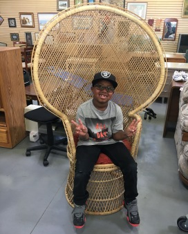 Wicker Chair, Goodwill Find (Courtesy of my son)